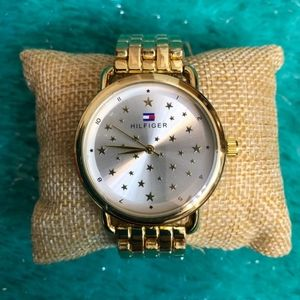 Tommy Hilfiger watch for women color gold